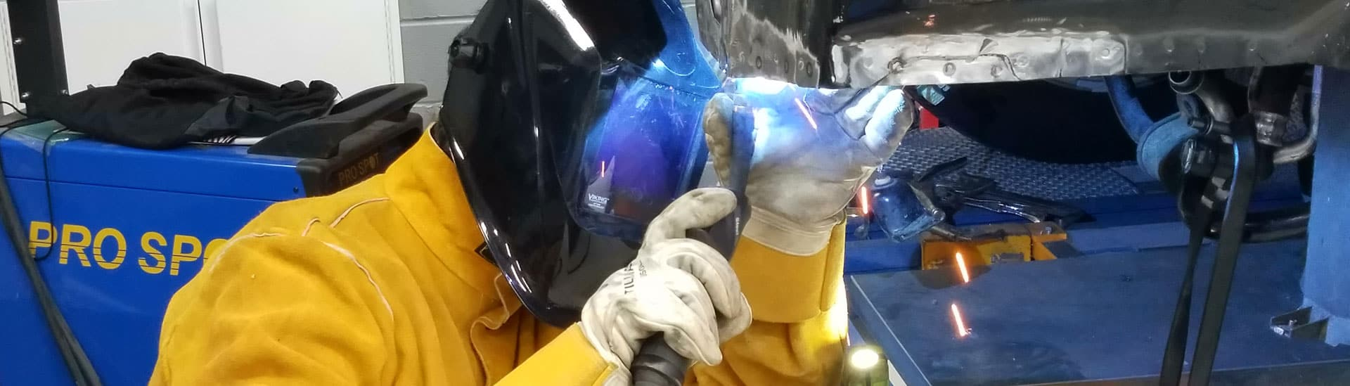welding vehicle after accident